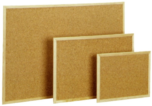 Pizarra corcho marco de madera la casa de la engrampadora - Pizarra corcho ...