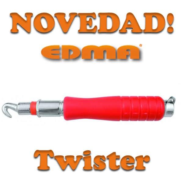 TWISTER – EDMA Mini atador profesional automático para alambres metálicos de anillas